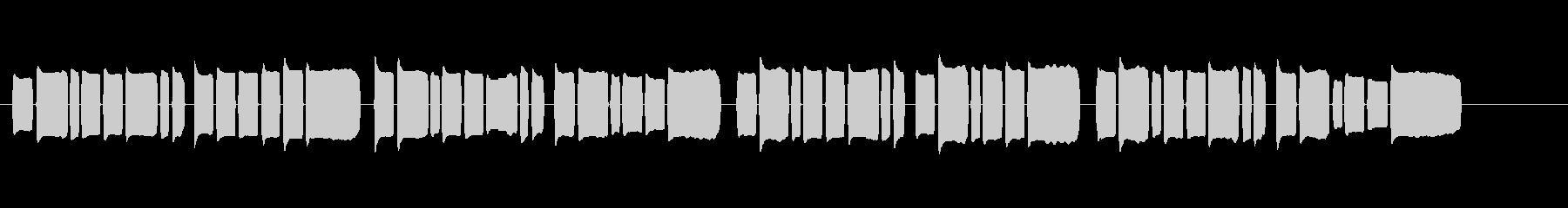 リコーダーで演奏した『蛍の光』の未再生の波形