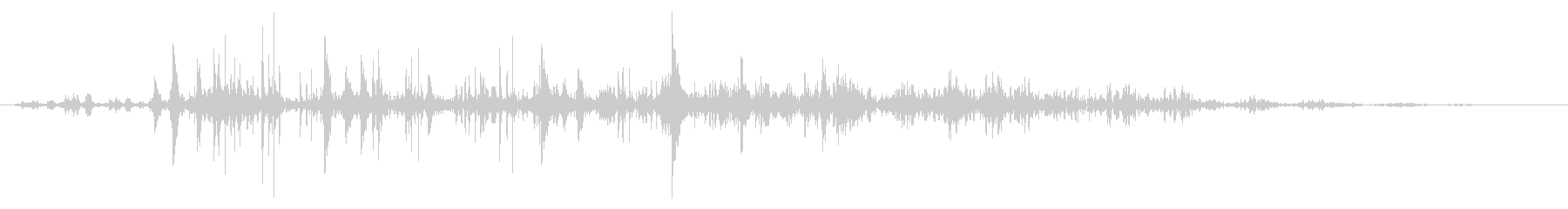 ネバネバ、ヌメヌメとした不気味な音A#3の未再生の波形
