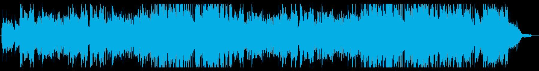 学校の校歌のような合唱の再生済みの波形