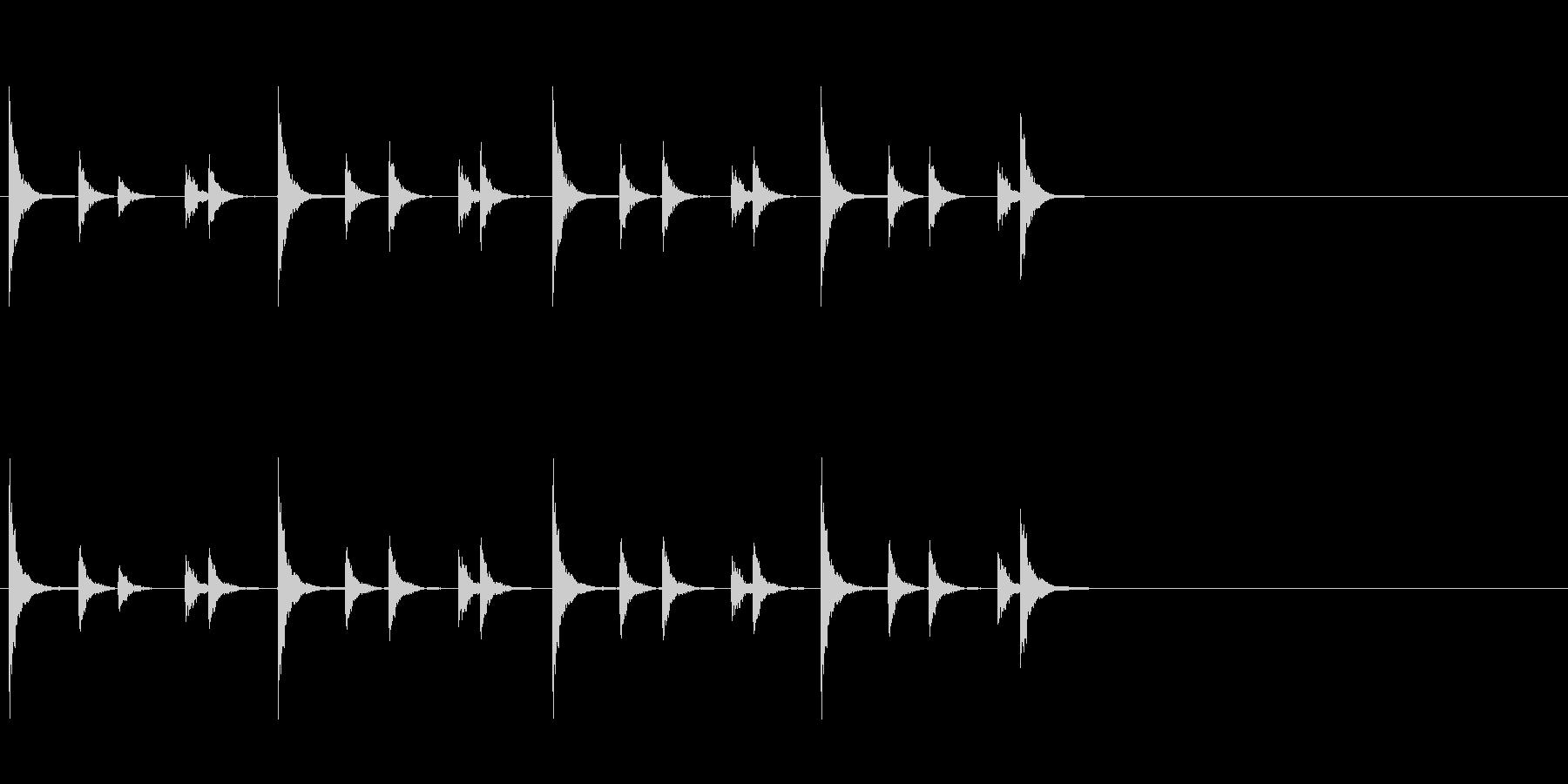 相撲などの触れ太鼓「大拍子」フレーズ音1の未再生の波形