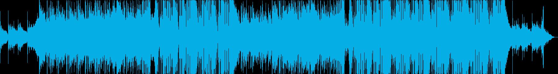 お洒落な雰囲気でかっこいいエレクトロの再生済みの波形