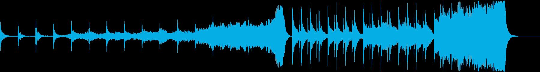ゆったりとした透明感のある美しい音楽の再生済みの波形