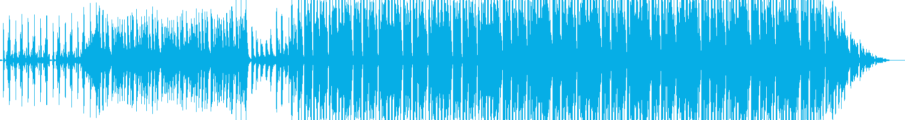 軽快なビートでのりのりな曲ですの再生済みの波形