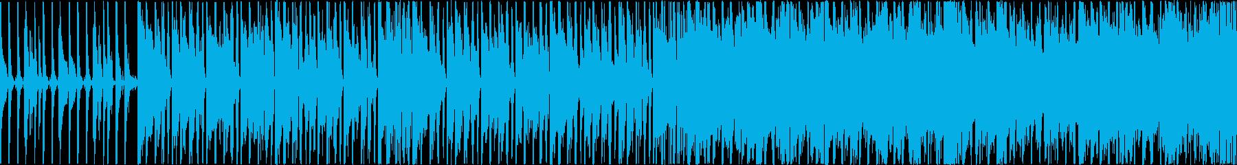 にぎやかな雰囲気の明るいポップスの再生済みの波形