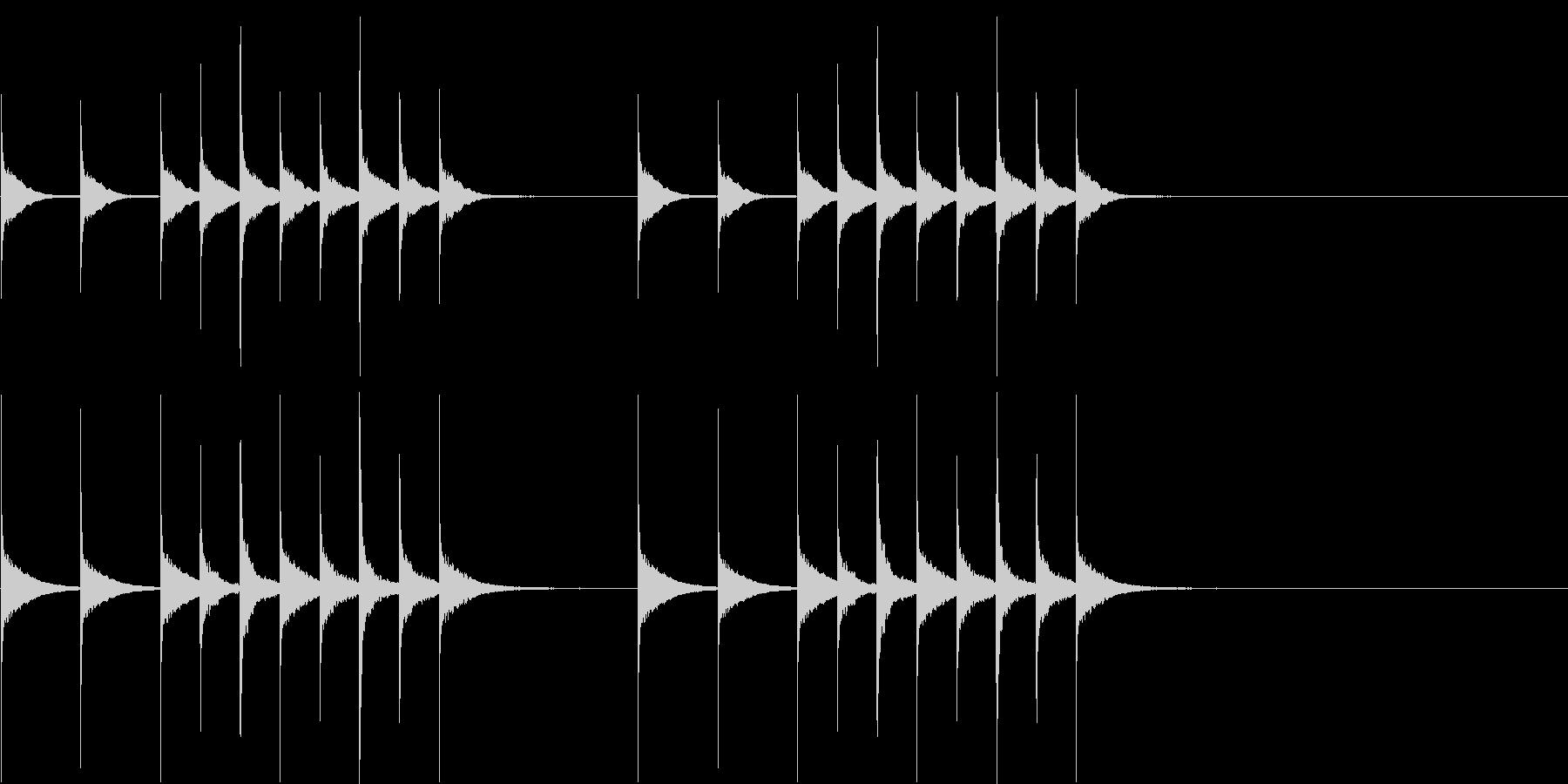 iPhoneみたいな着信音の未再生の波形