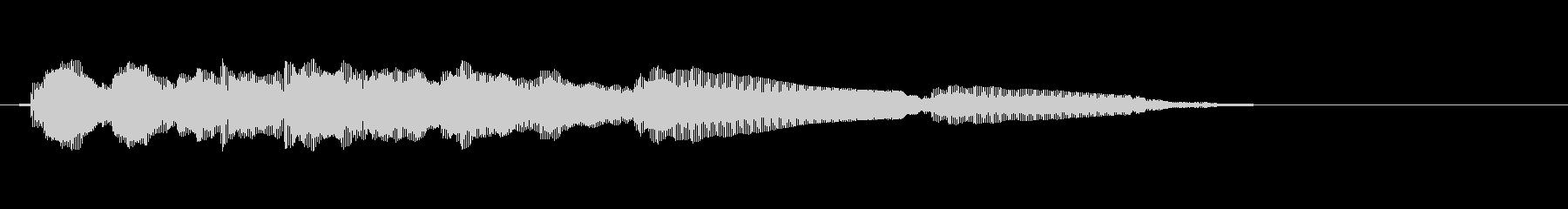 エレキギター5弦チューニング1リバーブの未再生の波形