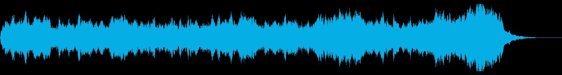 ファンタジーなオーケストラのジングルの再生済みの波形