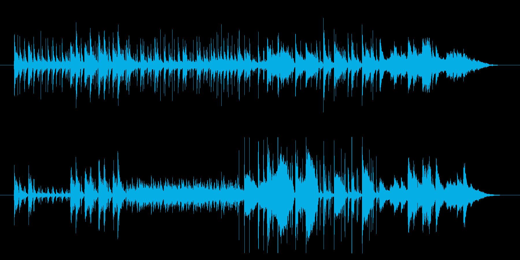 さまざまな楽器が使われたポップの再生済みの波形