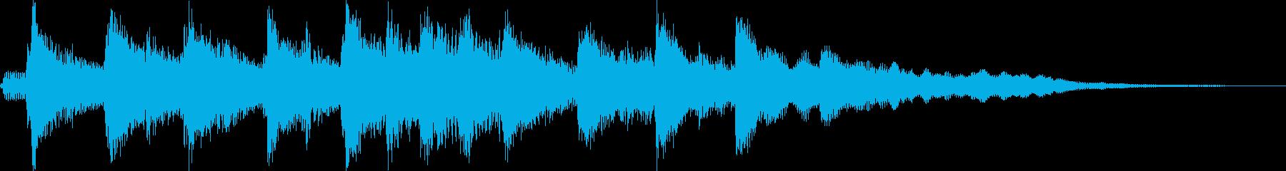 優しい感じの琴の和風ジングルの再生済みの波形