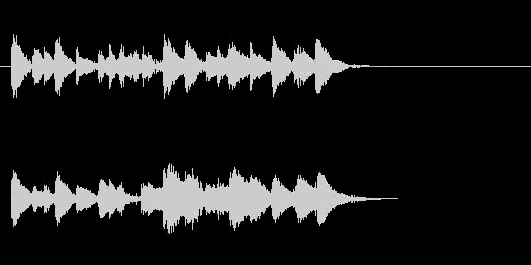 ほのぼの可愛いお料理木琴マリンバ三重奏の未再生の波形