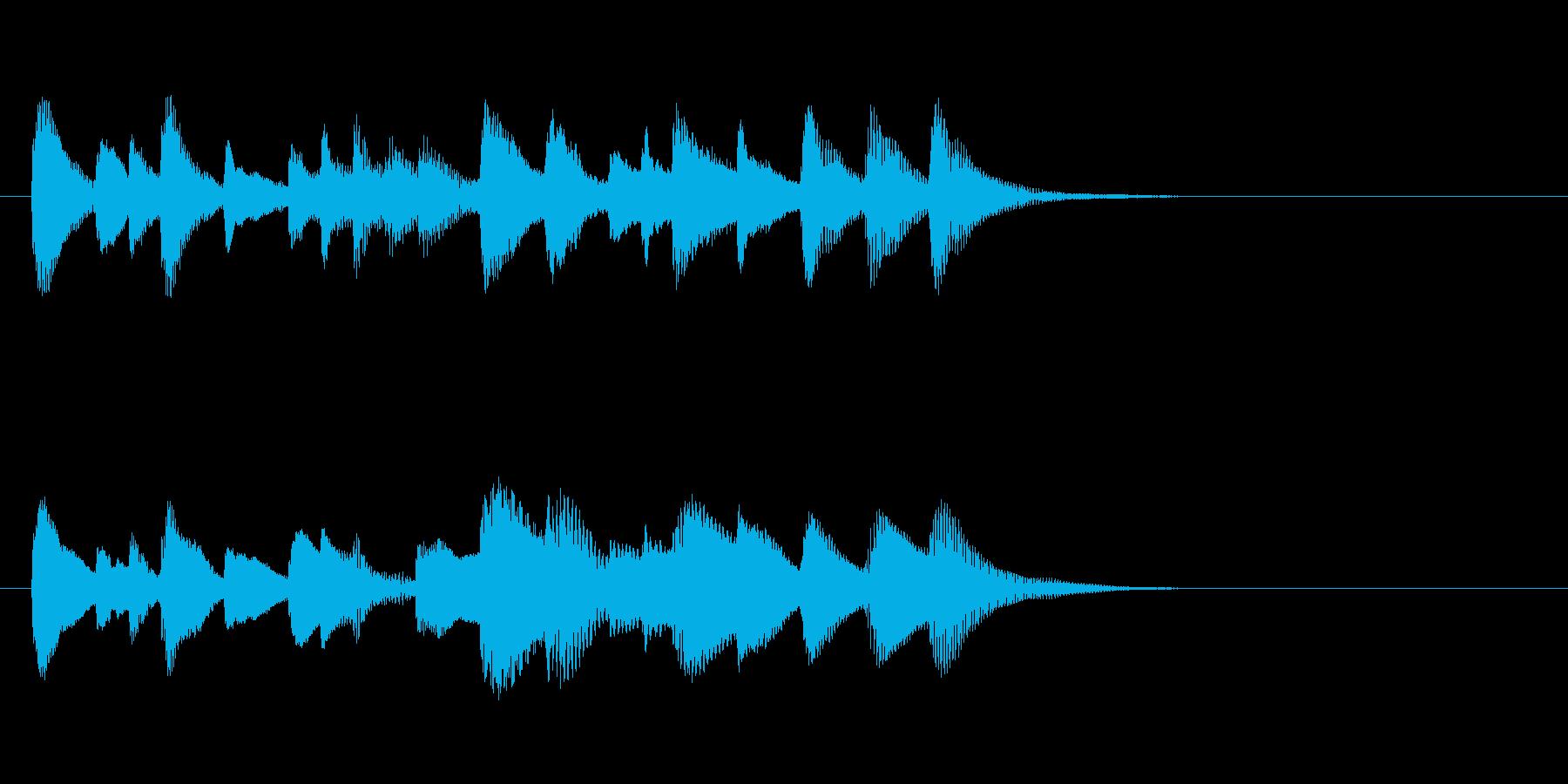 ほのぼの可愛いお料理木琴マリンバ三重奏の再生済みの波形