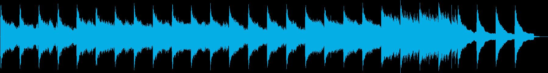 切なくノスタルジックなBGMの再生済みの波形