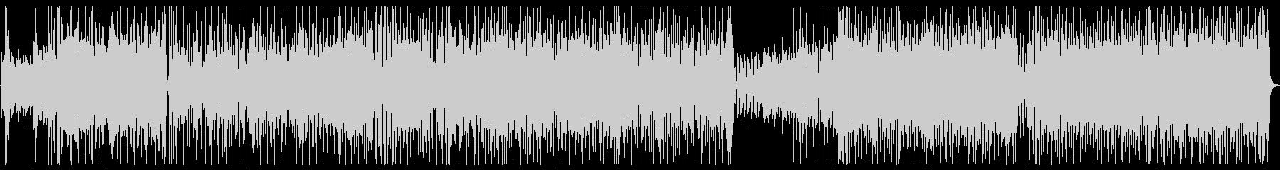 サイケでファンキーなロックチューンBGMの未再生の波形