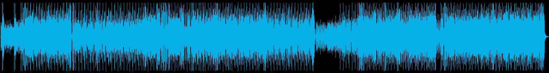 サイケでファンキーなロックチューンBGMの再生済みの波形