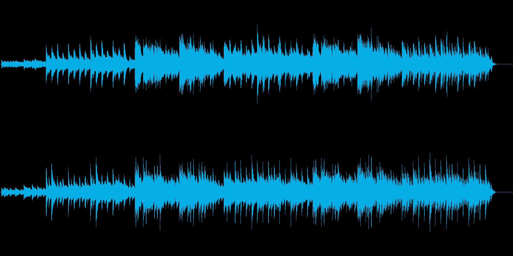 幻想的なピアノメインのクラシック曲の再生済みの波形