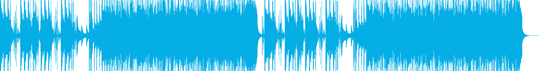 かっこよさを全面的に押し出したアコギ曲の再生済みの波形