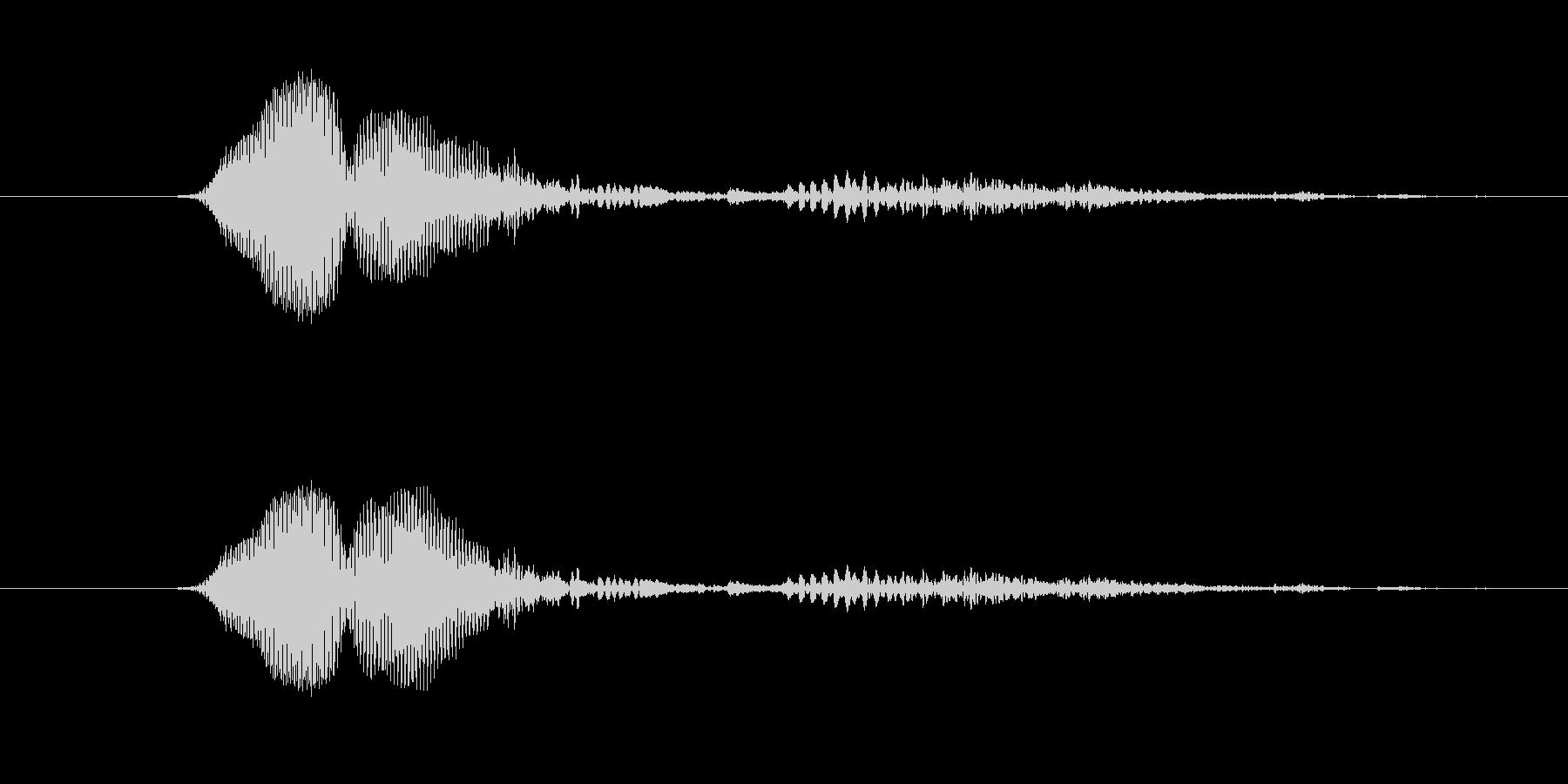 鳴き声 男性ファイトうめき07の未再生の波形