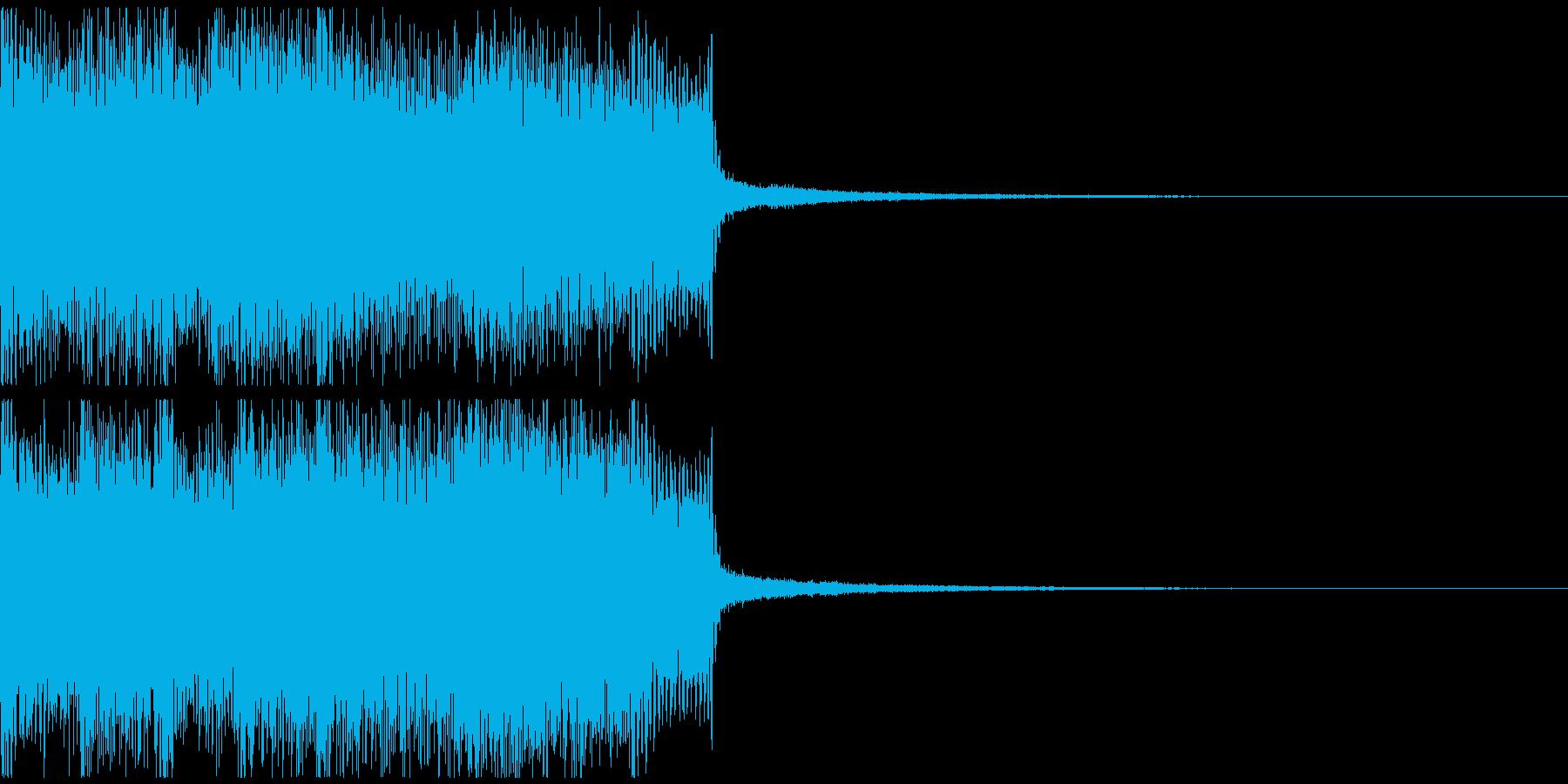 激しいアニソン風のジングルの再生済みの波形