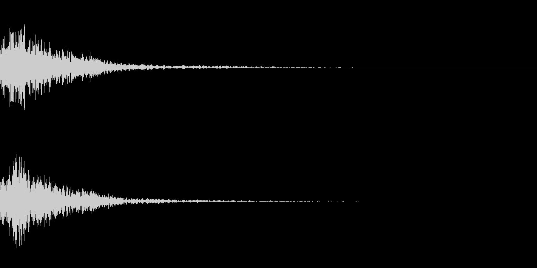 銃を撃つ音、レーザー銃、レールガンの未再生の波形