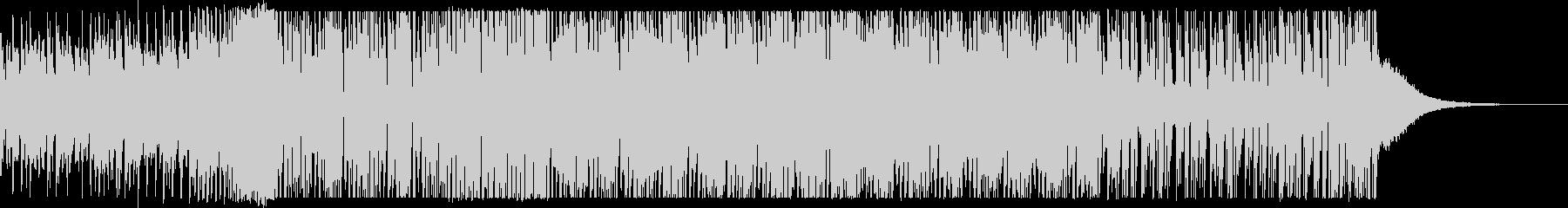 EDMテイストのインパクトのあるメロディの未再生の波形