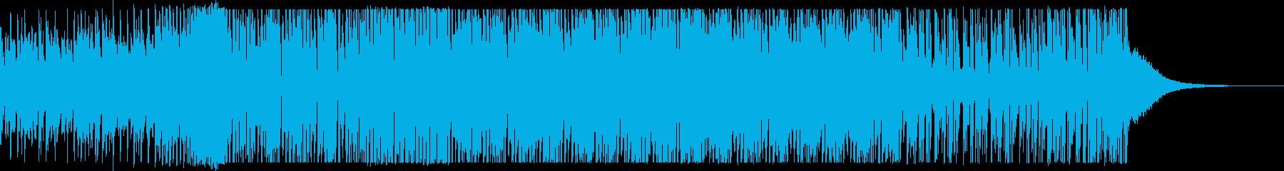 EDMテイストのインパクトのあるメロディの再生済みの波形