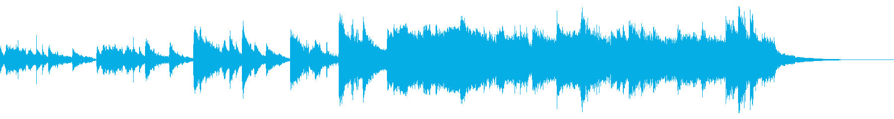 切ない・戸惑いのピアノ8小節の再生済みの波形