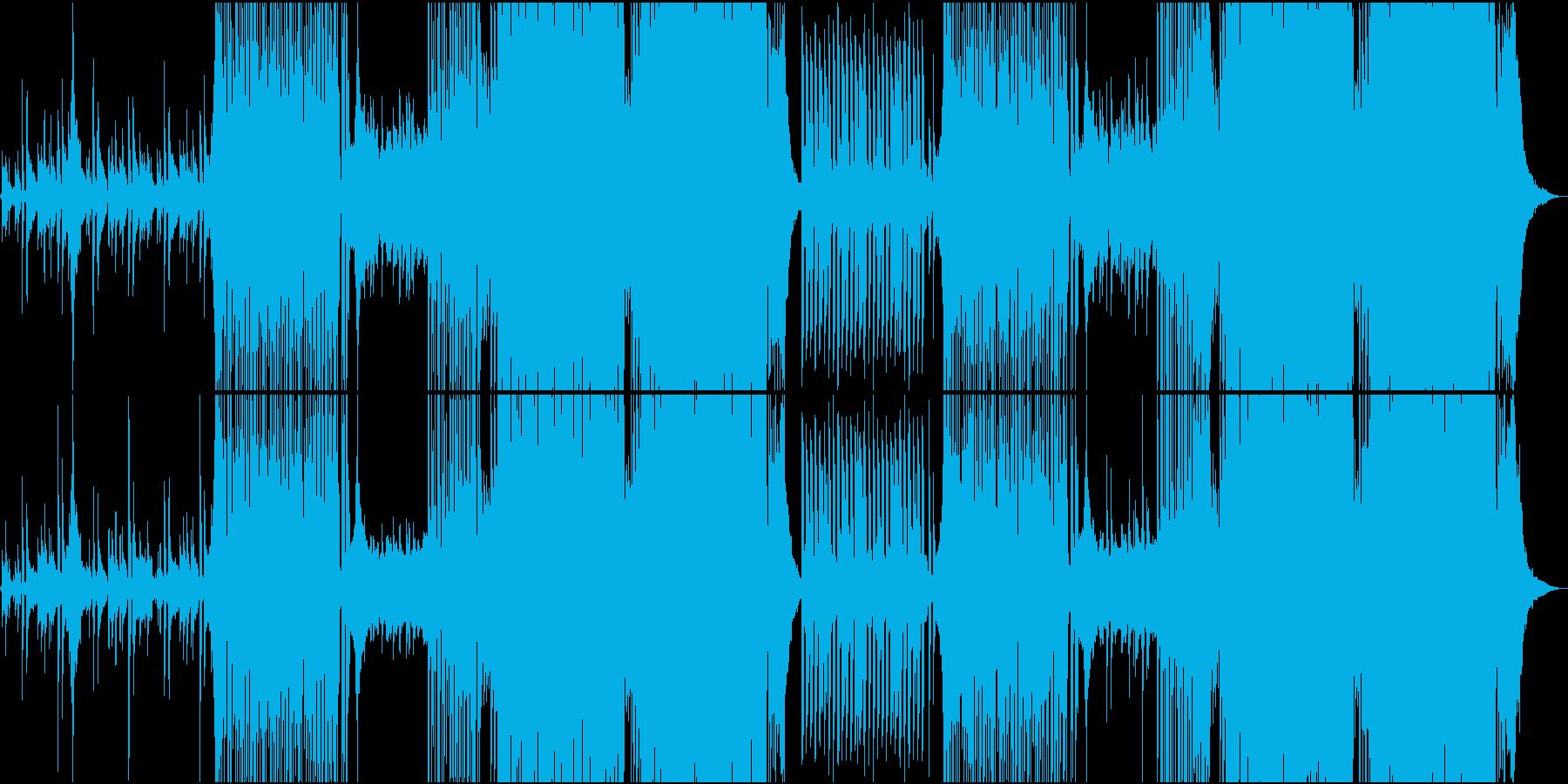 アコギとFuture Bassの和風楽曲の再生済みの波形