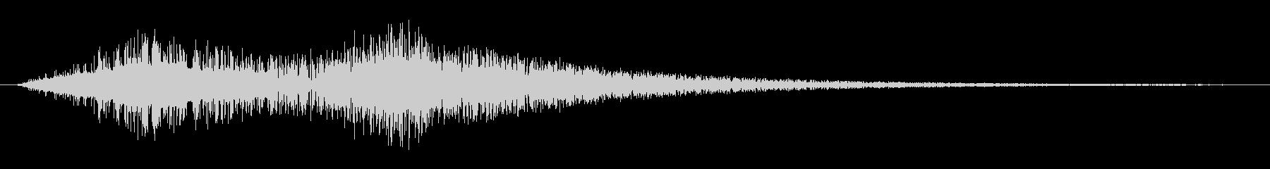 レトロゲームぽい効果音 振る音2の未再生の波形