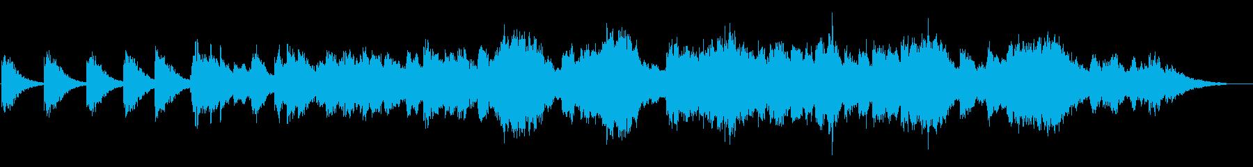 ヒーリングやリラックス向けのアンビエントの再生済みの波形