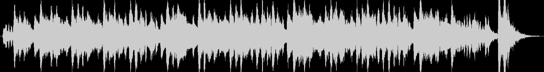 生フルートとクラリネットの可愛いワルツの未再生の波形