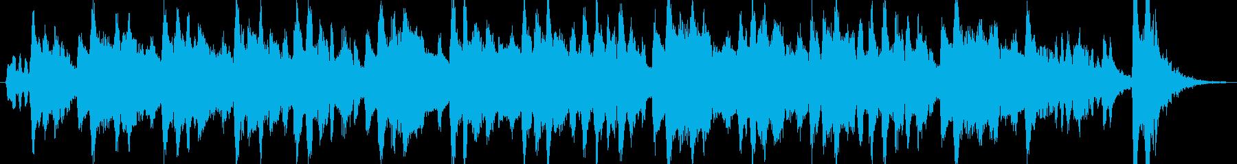 生フルートとクラリネットの可愛いワルツの再生済みの波形
