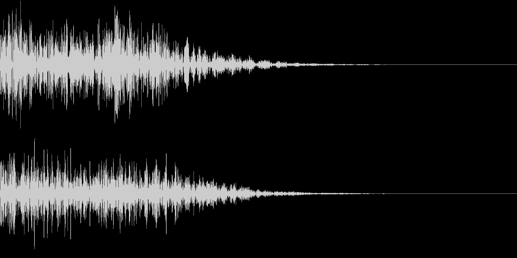 ゴゴゴ・ドーン(地鳴・爆発音・銃声・雷)の未再生の波形