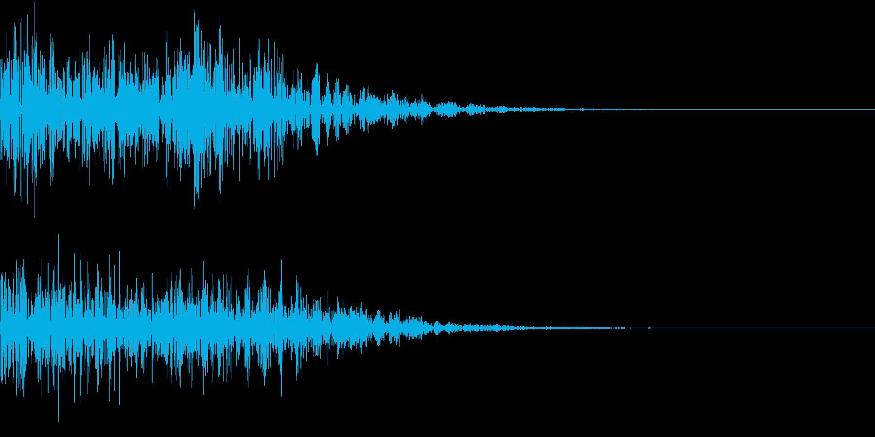 ゴゴゴ・ドーン(地鳴・爆発音・銃声・雷)の再生済みの波形