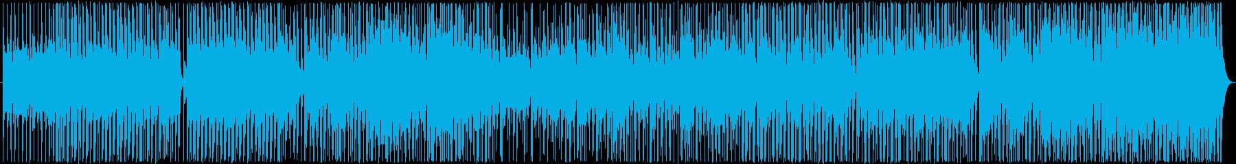 三味線と尺八が中心の弾むような和風BGMの再生済みの波形