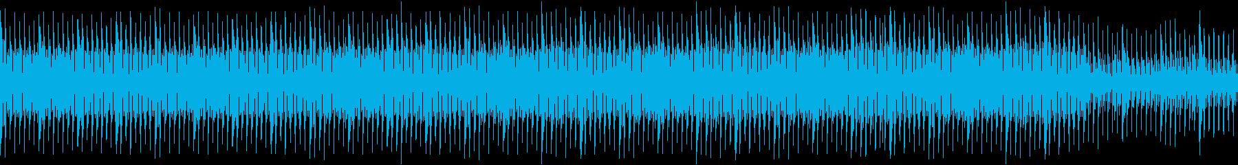 マリンバとピアノの大人しいループ曲の再生済みの波形