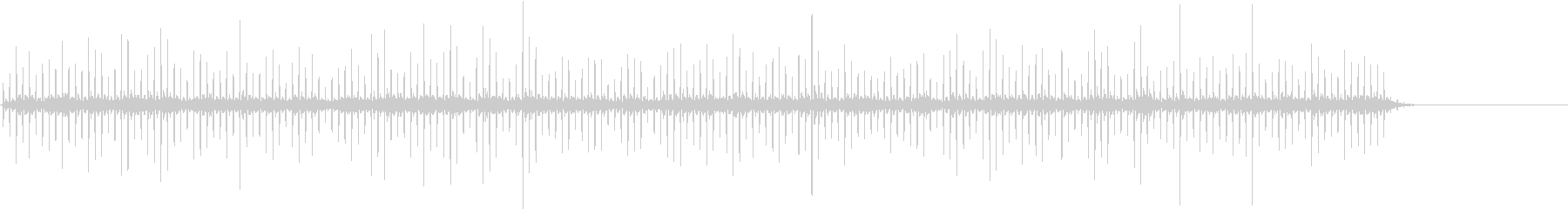 洞窟の中で響く飛び石のモーター音の未再生の波形