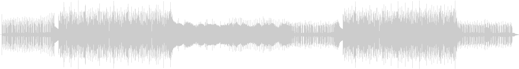 シンセ音がメインのアップテンポソングの未再生の波形