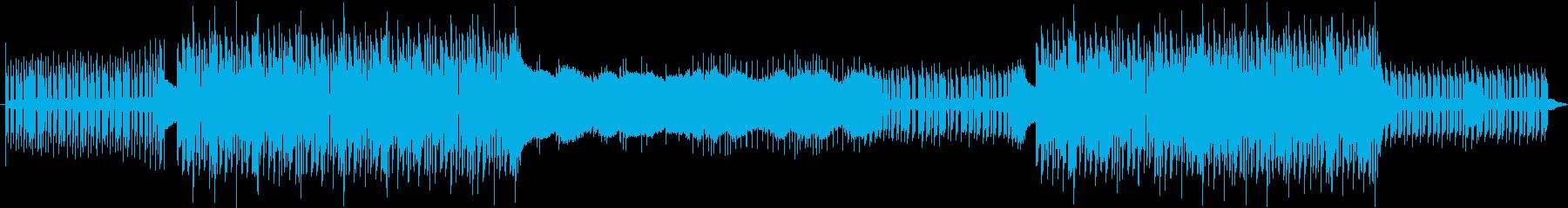 シンセ音がメインのアップテンポソングの再生済みの波形