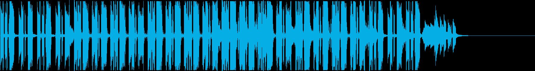 夏らしいハワイアンなボサノバギターの再生済みの波形