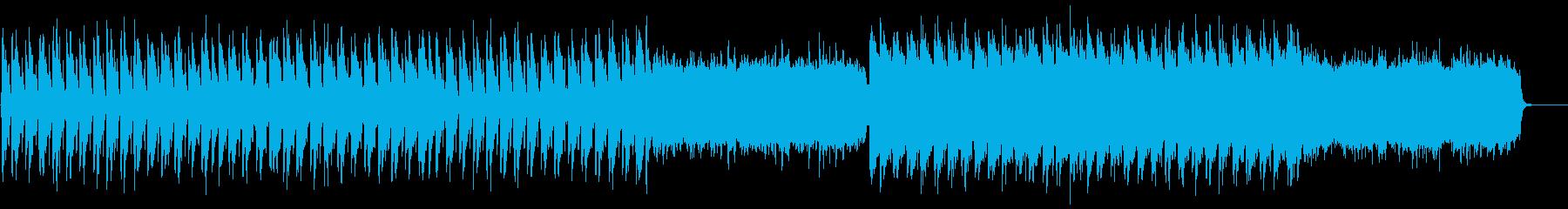 ゆったりとした和風、日本風のBGMの再生済みの波形