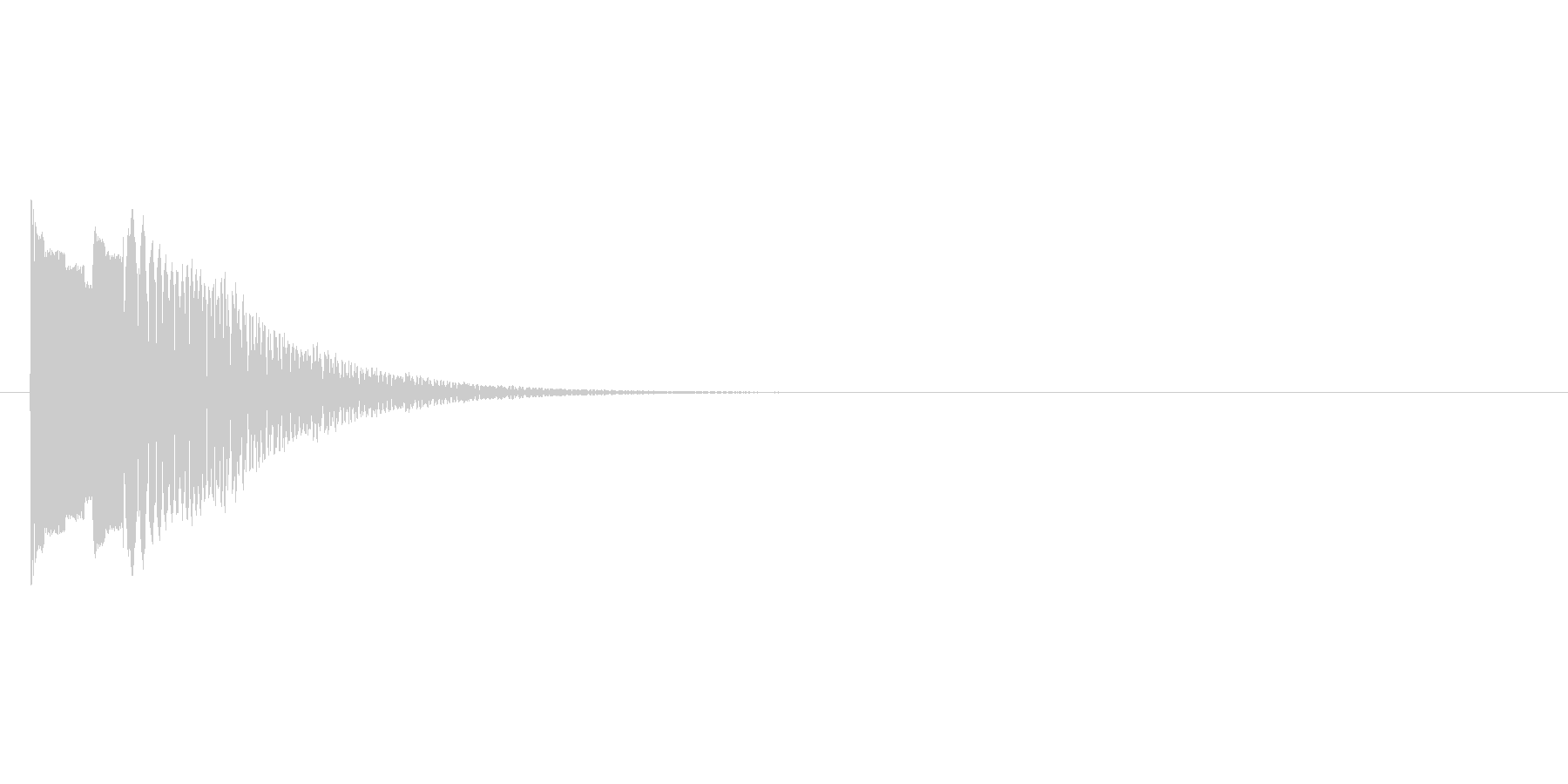 とぅーん(ワープするときの音)の未再生の波形