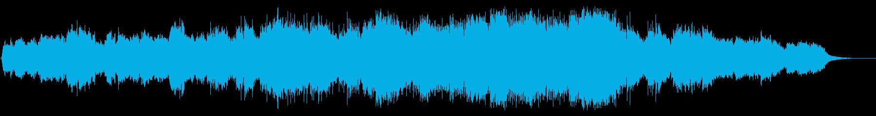 叙情的なピアノとストリングスのBGMの再生済みの波形