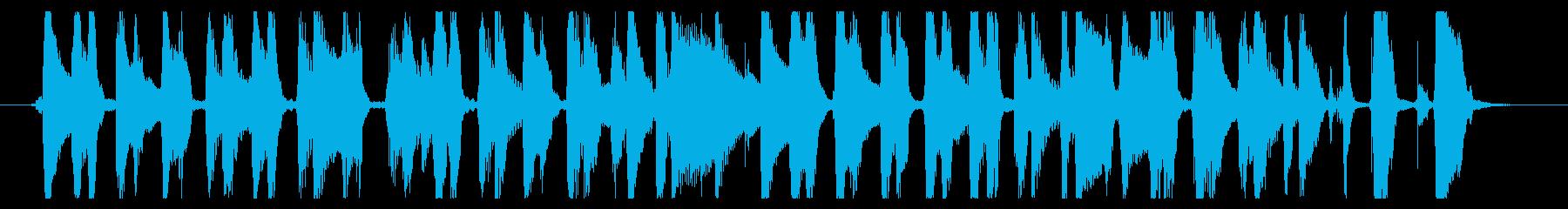 リコーダーとウクレレの生演奏のハワイアンの再生済みの波形
