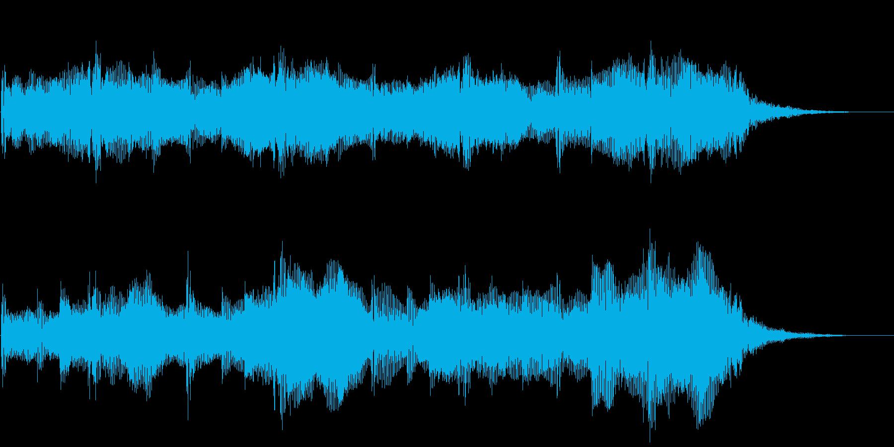 ダークアンビエントなストリングスBGMの再生済みの波形