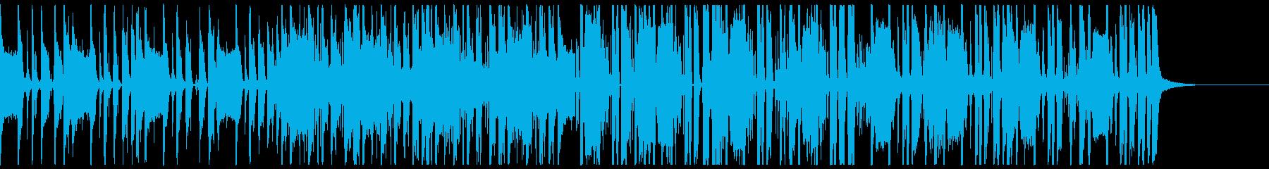スローな四つ打ちの再生済みの波形