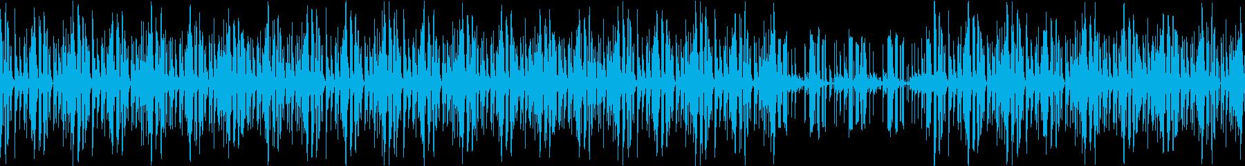 ニュース読みBGM。ルーブ可能の再生済みの波形