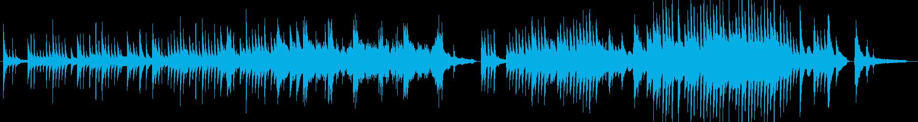 優しく儚いピアノソロ曲の再生済みの波形