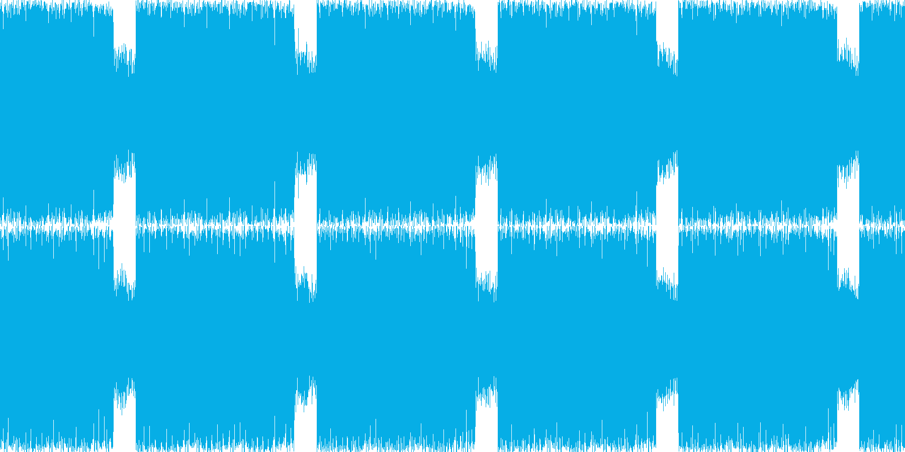 疾走感のあるBGMの再生済みの波形