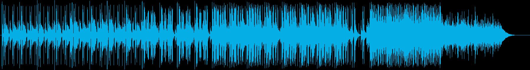 大人っぽい雰囲気の曲の再生済みの波形