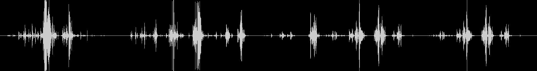 シャックルとチェーンの動きの未再生の波形